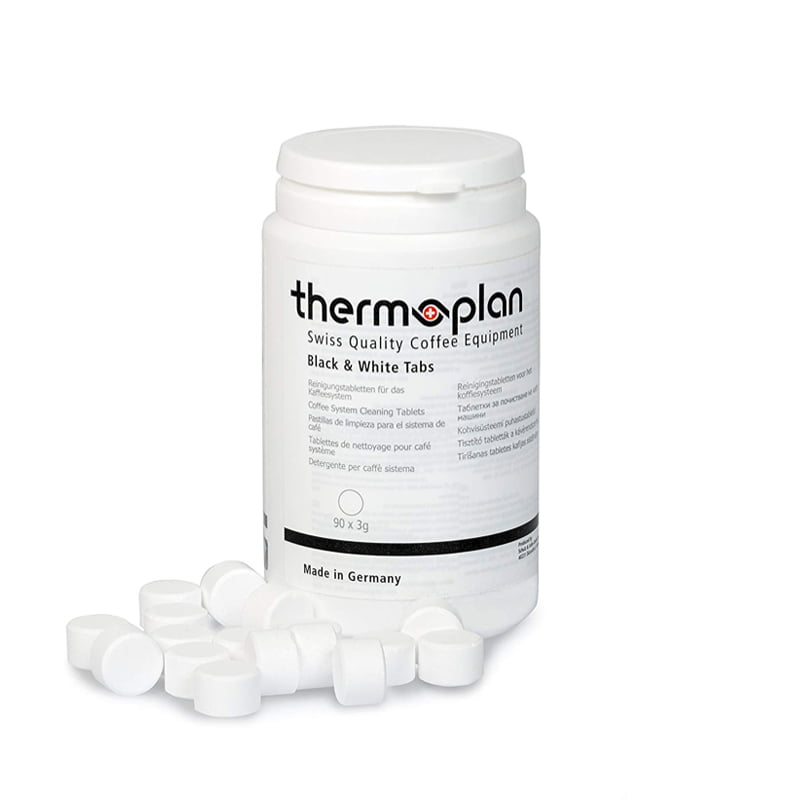 Cleaning Tablet Thermoplan Coffee Cleaning Tablets Black and white