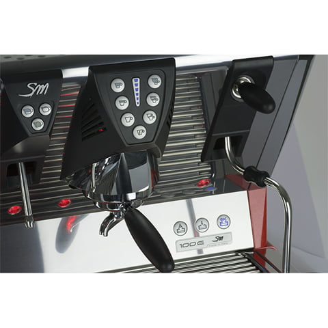 La San Marco 100 E 2 Groups Coffee Machine 18 1
